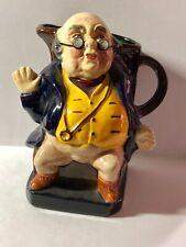 "Burleigh Ware Mr Pickwick Toby Mug Jug Burslem England 5""h"