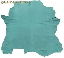 cuir d'ameublement rindshaut Taureau cuir (10) Vert tous peau environ 5.78 m²