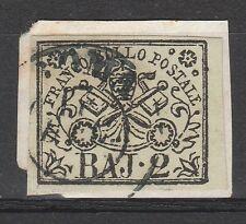 FRANCOBOLLI 1852 STATO PONTIFICIO 2 BAJ C/3206