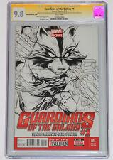 Guardians of the Galaxy #1 CGC 9.8 SS 3X LEE~BENDIS~QUESADA 1:150 Variant Sketch