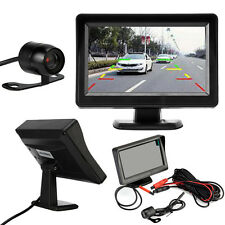 4.3'' TFT LCD Car Rear View System Backup Monitor Night Vision Reversing Camera