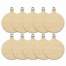 10pcs Wooden Round Bauble Hanging Christmas Tree Blank Decorations Gift Tag S SS