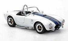 1:18 SHELBY COLLECTIBLES COBRA 427 S-C 1966 WHITE WITH BLUE STRIPES