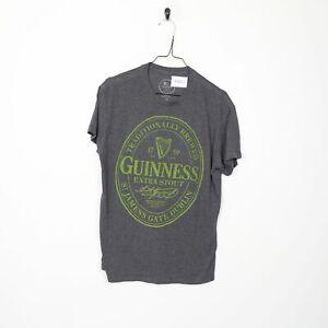 GUINESS Big Logo T Shirt Tee Grey Medium M