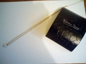 """9CT GOLD HEART PENDANT AND CHAIN 21"""" NECKLACE WARREN JAMES 375"""