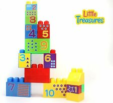 LOZUSA Big Building Bricks for Babies Fun and Educational Blocks with Numbers...