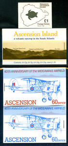 Ascension Islands 1981 to 89 run of 4 booklets unmounted mint (2020/12/21#08)
