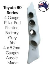 Toyota Landcruiser 80 Series 4 Gauge Pillar Pod Painted Factory grey 4 x 52 mm