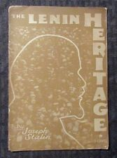 1934 THE LENIN HERITAGE by Joseph Stalin GD Pamphlet 16 pgs