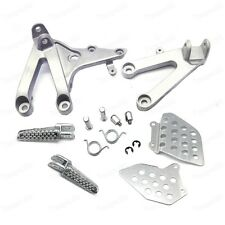 Motorbike Silver Front Foot Pegs Bracket Fit For Honda CBR600RR 2007-2014 New