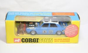 Corgi 302 Hillman Hunter Rally Car In Its Original Box - Excellent Vintage 1960s