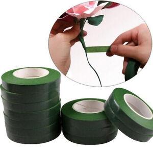 30M Self-adhesive Green Paper Tape Grafting Film Floral Stem Garland Wreaths*kn