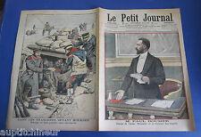 Le petit journal 1905 740 Guerre Russie Japon tranchées Moukden  Paul Doumer