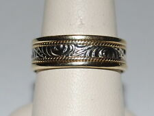 10K Gold Band with beautiful design