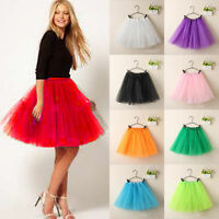 Hot Fluffy Adult Novelty Colorful  Dress Women Tulle Tutu Dance Ballet MiniSkirt