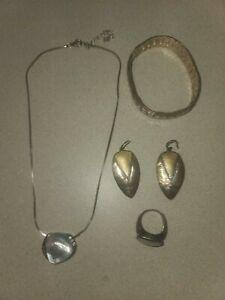 Silpada Fine Jewelry Lot Necklace Bracelet Earrings .925 Sterling Silver