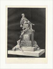 Das Bismarck Denkmal der Corpsstudenten Pfretzschner Statue Holzstich E 16558