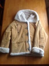 J.Percy for Marvin Richards Beige Suede/Leather Jacket Women's Ladies size M
