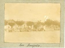 Tunisie, Les nouvelles recrues du régiment ca.1897 vintage citrate print Vintage