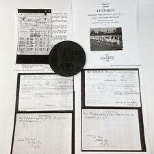 More details for ww1 death plaque penny kia battle of arras 10th april 1917 lt aubrey chaplin 955
