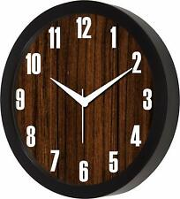 Wall Of Wooden Look Designer Wall Clock for Home/Living Room/Bedroom Kitchen