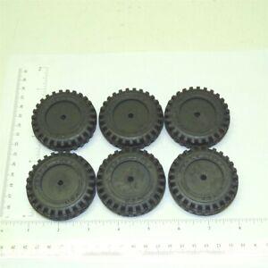 Set of 6 Rubber Tonka Script Tire Toy Parts TKP-019-6