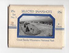 VINTAGE GREAT SMOKY MOUNTAINS NATIONAL PARK SELECT SNAPSHOTS 8 SOUVENIR PHOTOS