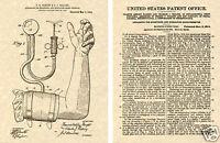 1914 BLOOD PRESSURE CUFF US PATENT Art Print READY TO FRAME!! Doctor Nurse