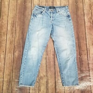 Lucky Brand Dylan Boyfriend Jeans Womens Size 4/27 Blue Button Fly Mid Rise