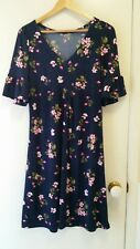 NEW Retro print floral jersey dress, size 12
