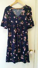 NEW Retro print floral jersey dress, size 12