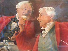 Antique Print Louis Moeller Old Madeira Pipe Smoking Men Drinking 1905
