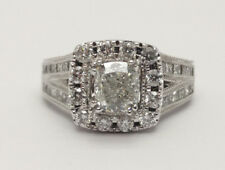 Neil Lane 14k White Gold 1.90ctw Diamond Engagement Ring w  Princess-Cut Accents