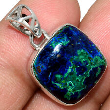 Azurite In Malachite - Morenci Mines 925 Silver Pendant Jewelry AP211566