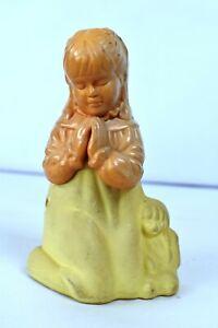 """Vintage Avon First Prayer Girl Praying Decanter Full Charisma Cologne Bottle """"K"""