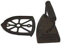 Vintage Cast Iron Press with Cast Iron Holder Base Antique