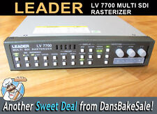 Leader LV-7700 Rasterizer HD/SD-SDI Waveform Vector Audio - Excellent Condition