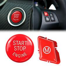 Botón de motor de parada de inicio del Motor de Coche Rojo Cubierta Para BMW 3 Series E90 E92 E93 M3 EE. UU.