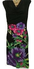 RONNI NICOLE Sleeveless Tropical Floral Midi Dress Cowl Neck Size 6 EXCELLENT