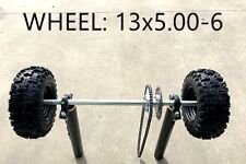 Huffy Slider Drift Trike Go Kart 25mm Complete Solid Axle wheels 13x5.00-6