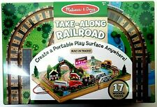 Melissa and Doug 17 Piece Wooden Take Along Tabletop Railroad 30140 Ships Free