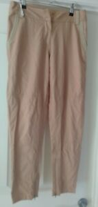 Pink Stitch Scarlet Pants Camel Colour Size 8 Brand New Without Tags Ankle Zips