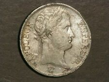 FRANCE 1810A  5 Francs Napoleon Silver Crown VF-XF