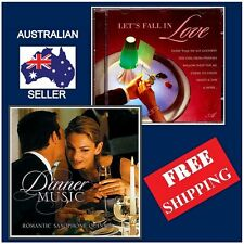 Set of 2 - LET'S FALL IN LOVE & DINNER MUSIC CD, Instrumental Tunes,Valentines