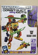 Transformers Construct Bots Dead End & Breakdown lot of 2! 100% Complete!!!
