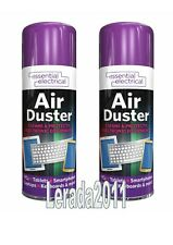 2 x COMPRESSED AIR DUSTER 400ml CLEANS PROTECTS ELECTRICAL EQUIPMENT MAINTENANCE