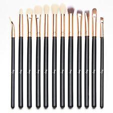 Qivange 12pcs Eye Brush Set, Cosmetics Concealer Eyeliner Blending Eyeshadow