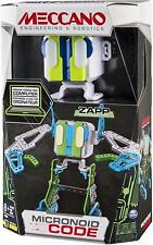 Meccano Code ZAPP Programmable Robot Building Kit - Green/Blue