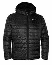 Columbia Men's Crested Butte Omni-Heat Hooded Jacket Black Camouflage Small New