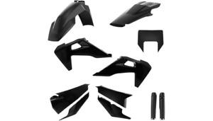 Acerbis Complete Plastic Fender Body Kit Black Husqvarna FE350S 2020-2021